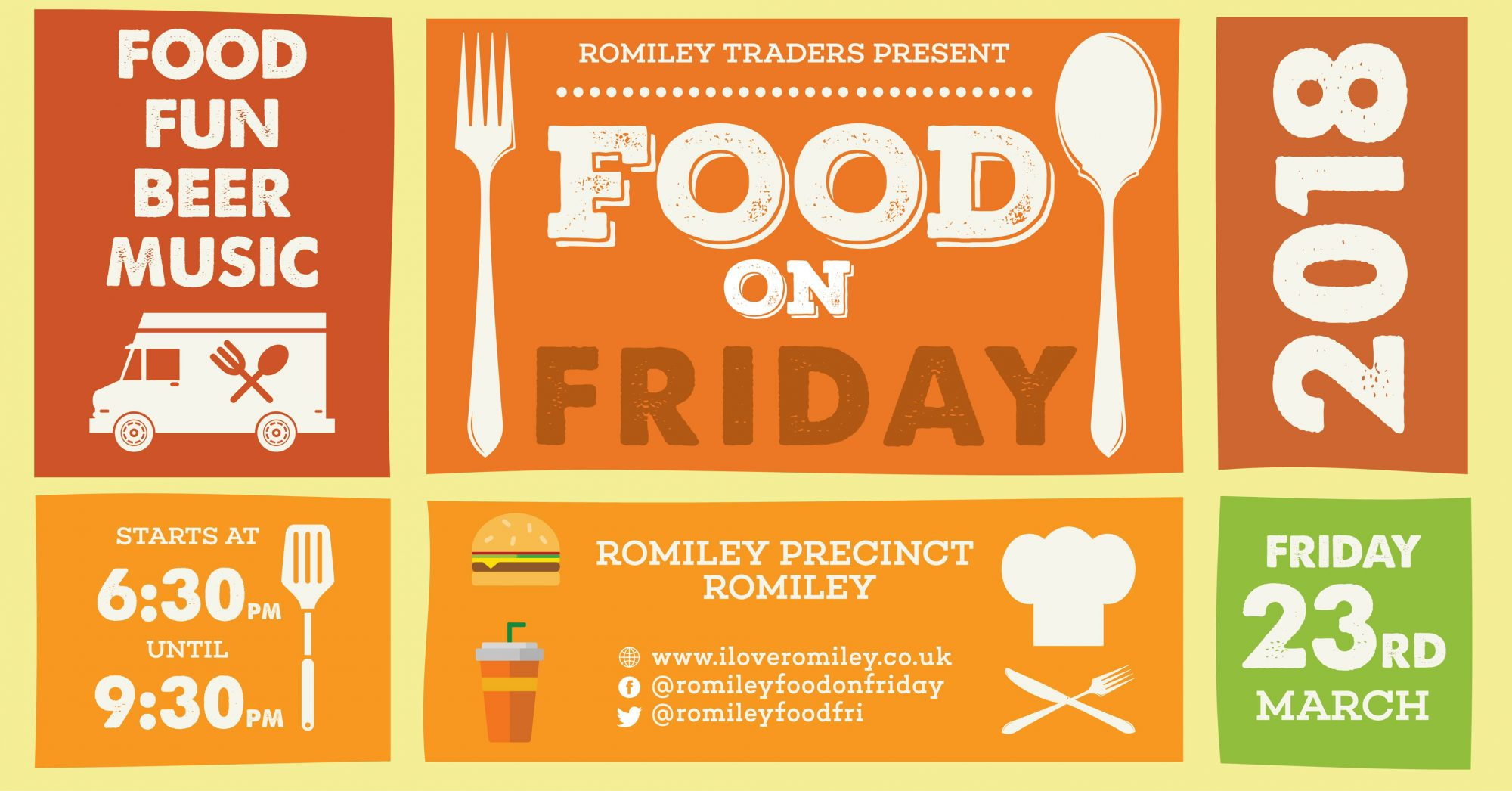 Romiley Food on Friday Street Food Event March 2018