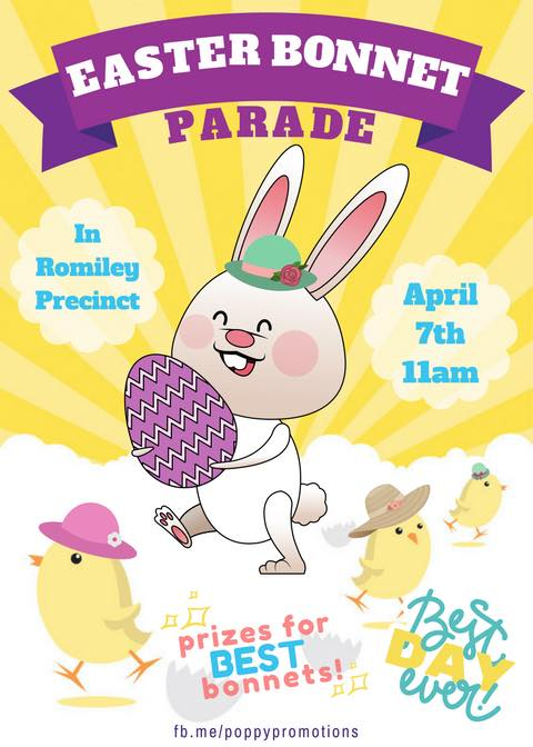Easter Bonnet Parade Poster