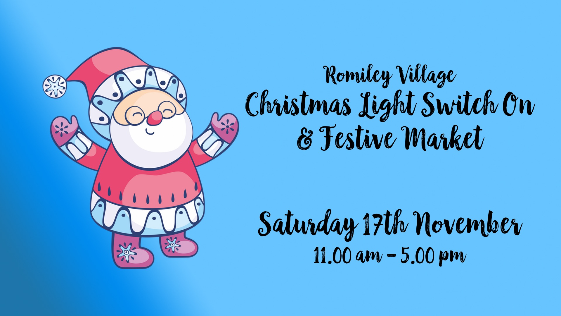 Romiley Christmas Light Switch On & Festive Market