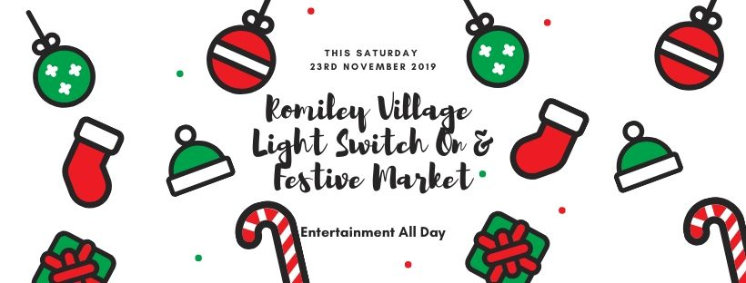 Romiley Village Christmas Light Switch On and Festive Market